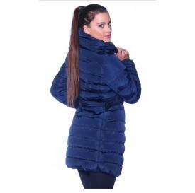 Zimná dámska vetrovka - dlhá (modrá)