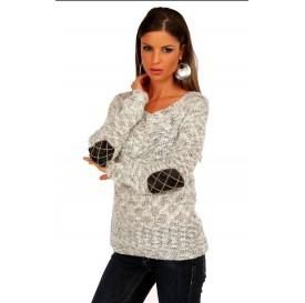Dámsky pulóver - zdobený na rukávoch (univerzálna veľkosť)