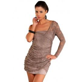 Šaty s jedným rukávom